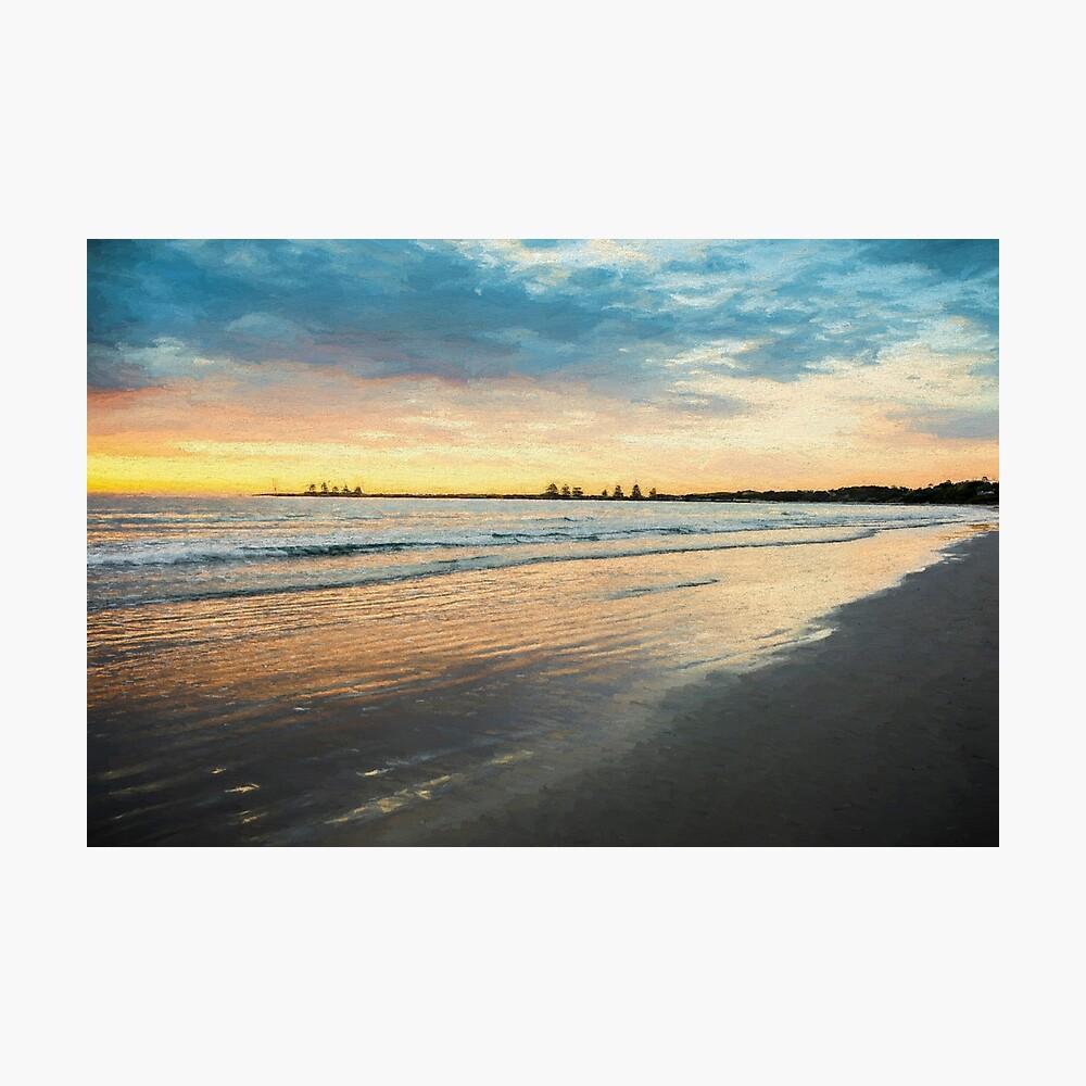 Sunrise at Port Fairy  (Digital Painting) Photographic Print