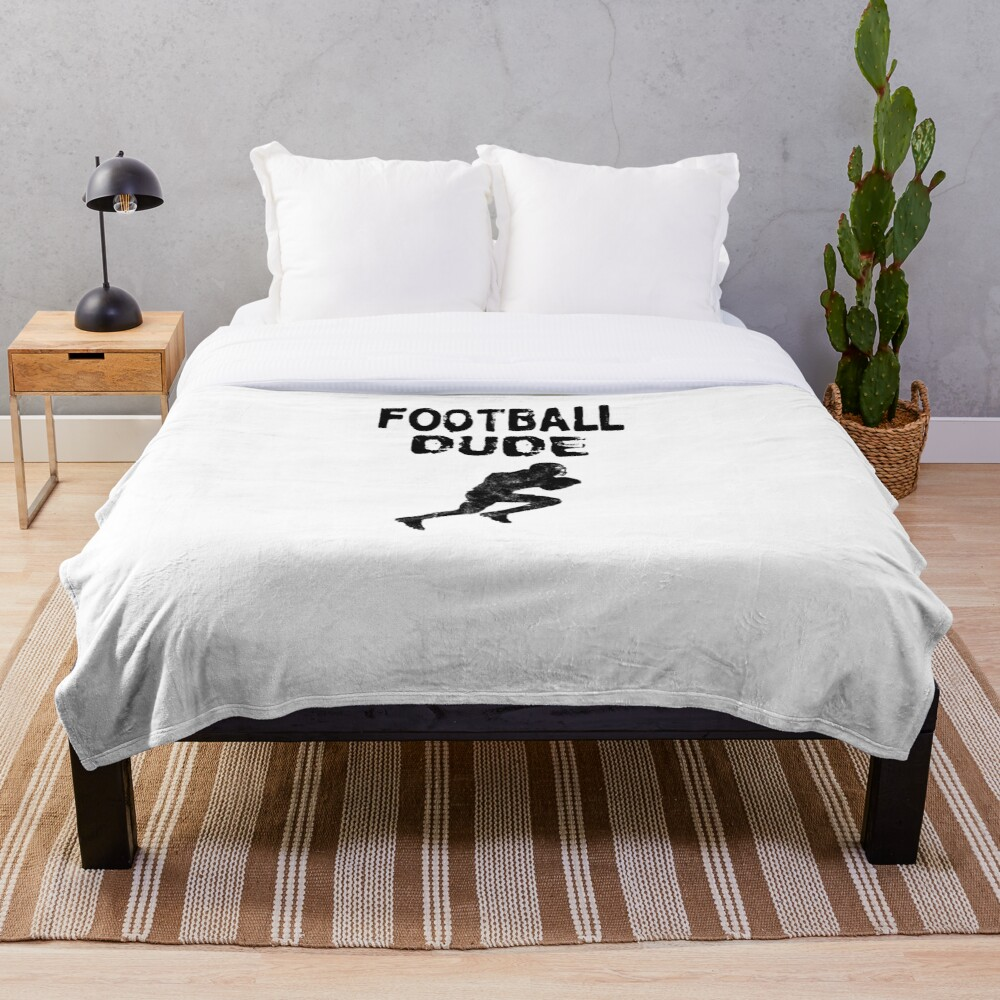 Football Dude  - Funny Football Player Gift for Men Boys Teens  Fleecedecke