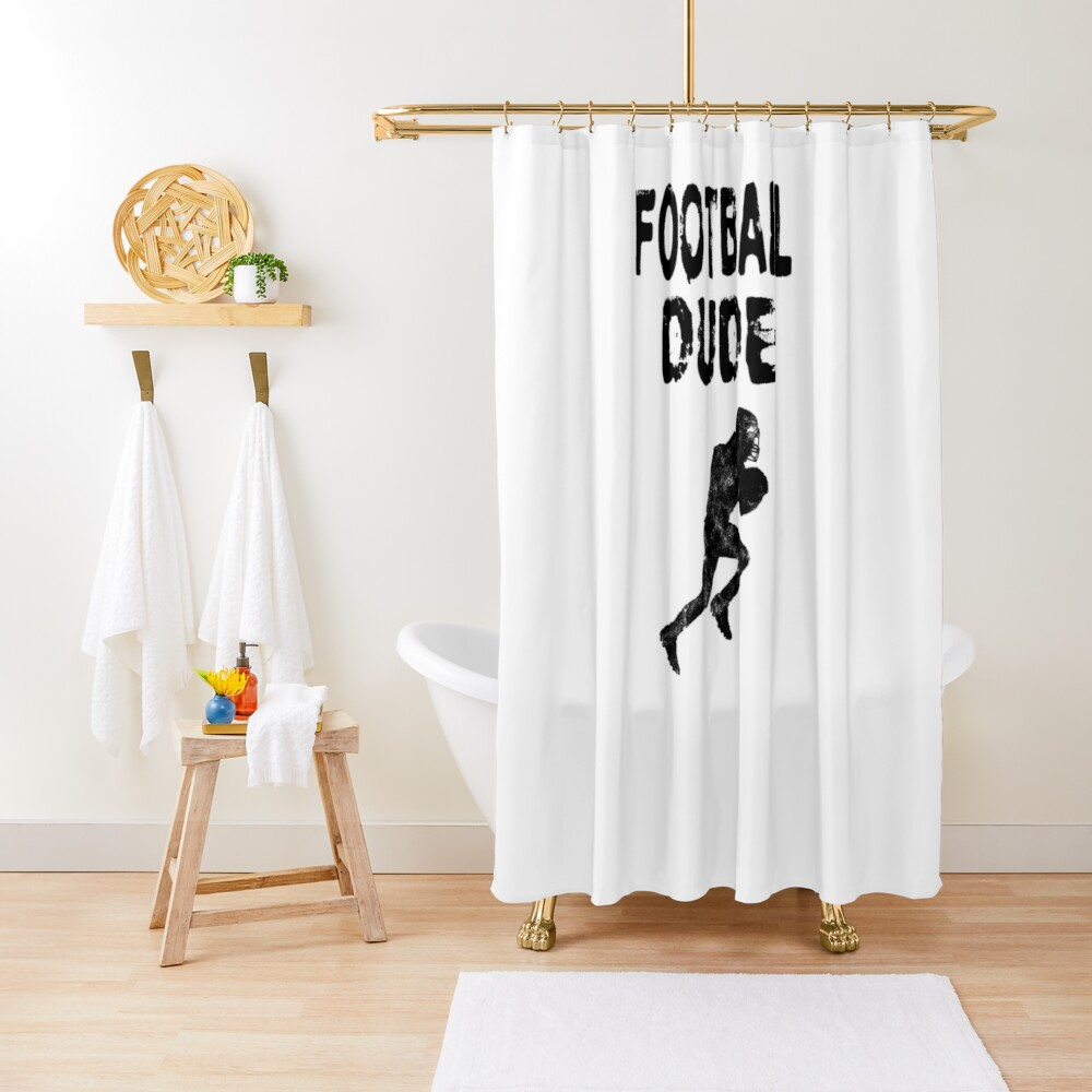 Football Dude  - Funny Football Player Gift for Men Boys Teens  Duschvorhang