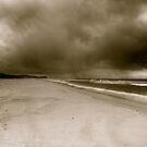 storm on a beach by donnnnnny