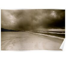 storm on a beach Poster