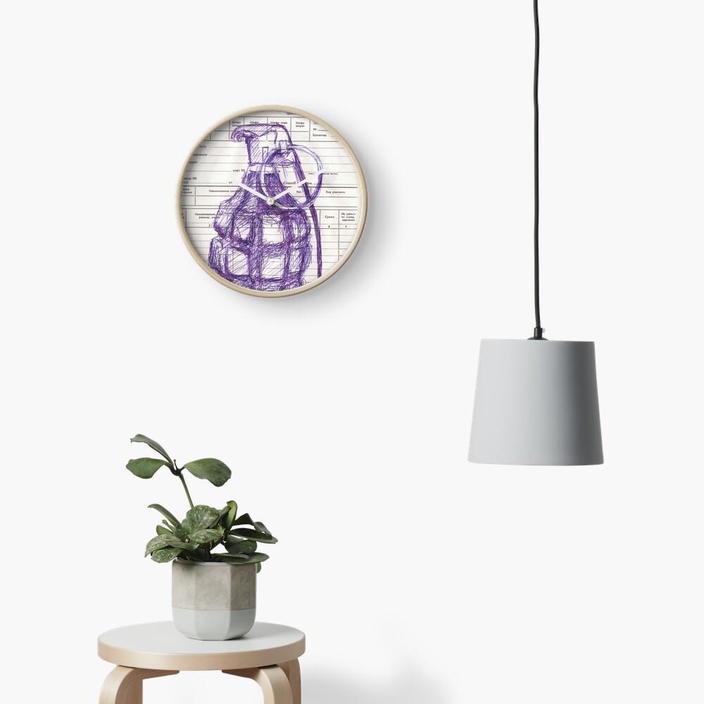 Grenade Clock