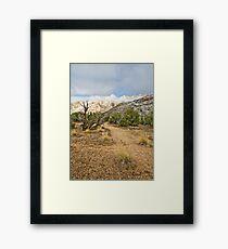 Split Mountain Path Framed Print
