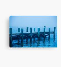 Misty Dockway Canvas Print