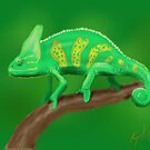 Chameleon - Sketched on iPad by Ray Cassel
