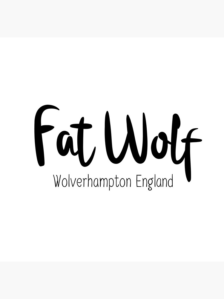 Fat Wolf Logo (Black) by danbadgeruk