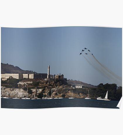 The Rock - Blue Angels Style Poster
