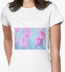 Lean on me... Womens Fitted T-Shirt