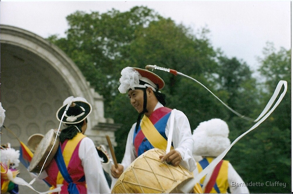 Korean Dancers, Central Park, NYC by Bernadette Claffey