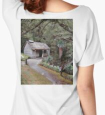 Bath House at Waldheim, Cradle Mountain Women's Relaxed Fit T-Shirt