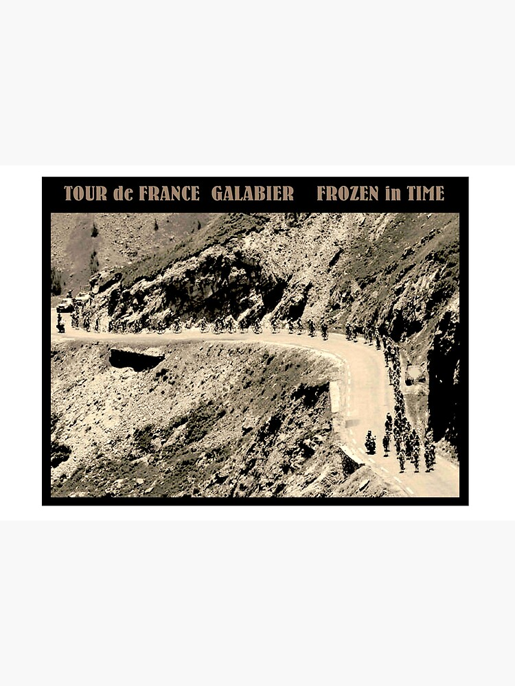 TOUR de FRANCE: Vintage Galabier Mountain Pass Advertising Print by posterbobs