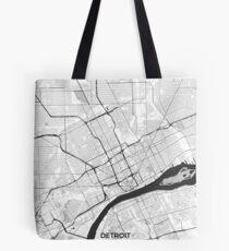 Detroit Map Gray Tote Bag