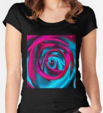 Velvet psychedelia - Rose design Women's Fitted Scoop T-Shirt