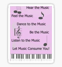 For the Love of Music Sticker