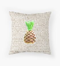 Psych Burton Guster Nicknames - Television Show Pineapple Room Decorative TV Pop Culture Humor Lime Neon Brown Throw Pillow