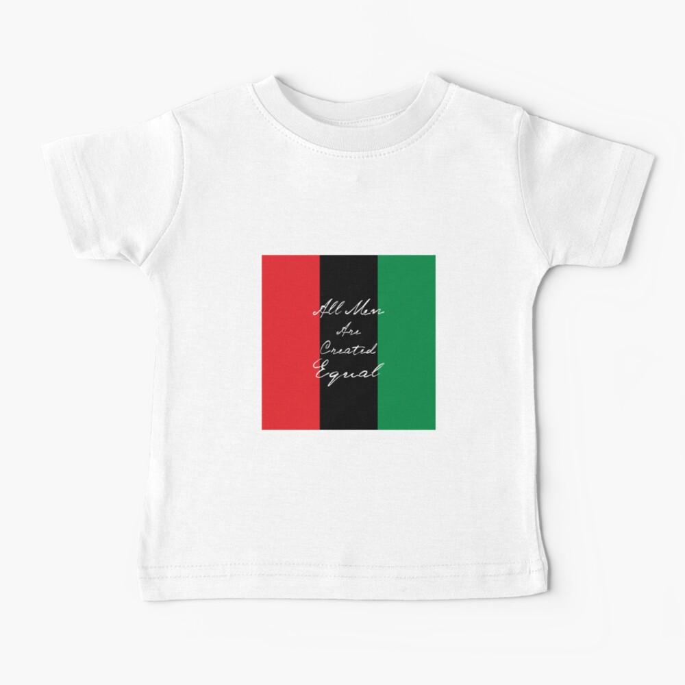 Alle Männer sind gleich Afro-Flagge Baby T-Shirt