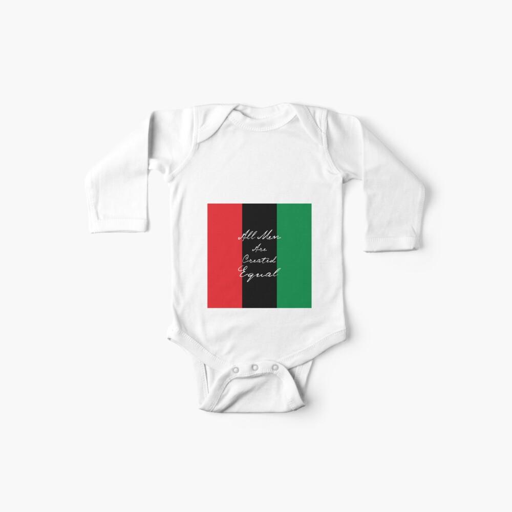 Alle Männer sind gleich Afro-Flagge Baby Body
