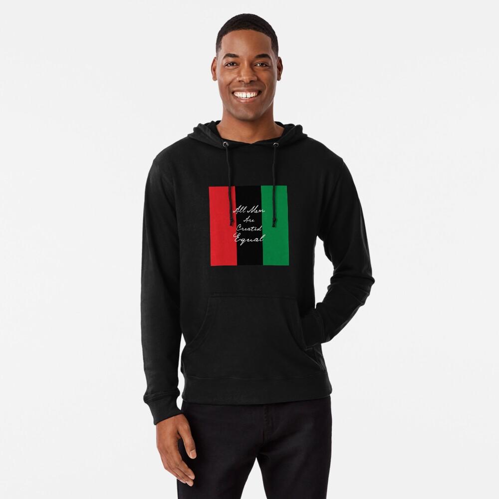 Alle Männer sind gleich Afro-Flagge Leichter Hoodie