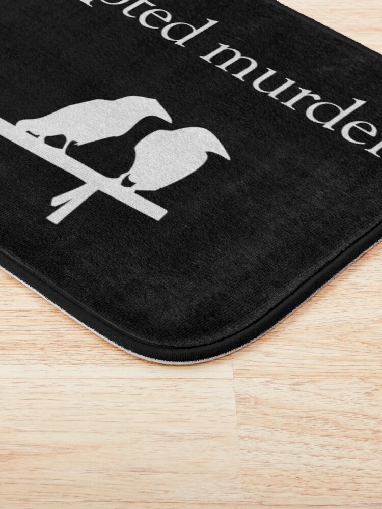 Alternate view of Attempted Murder (White design) Bath Mat