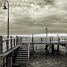 The Pier in Infrared by Kym Howard