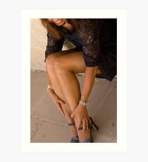 Of High-heeled Shoes, Pearls & Laces Art Print