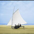 Sailing on the beach by Kurt  Tutschek