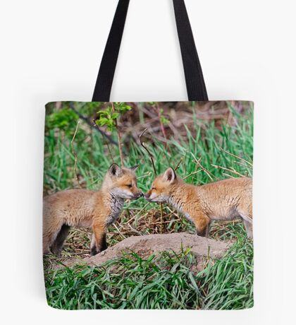 Fox Kits 11 Tote Bag