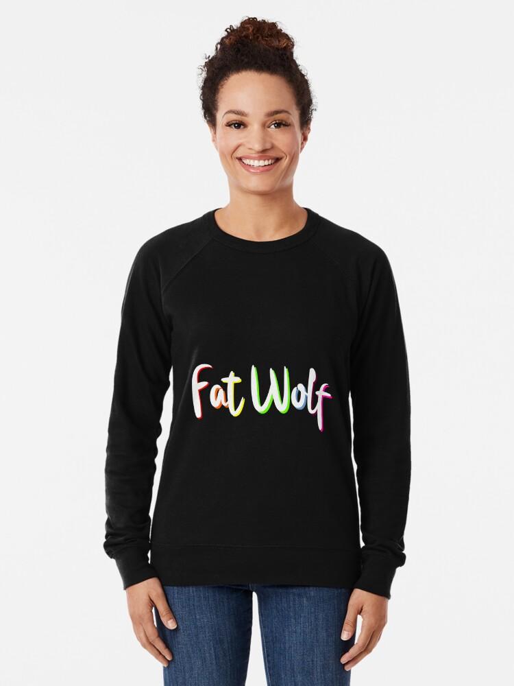 Alternate view of Fat Wolf Rainbow Lightweight Sweatshirt