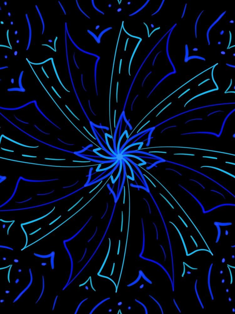 Blue Windmill Symbol by roseglasses