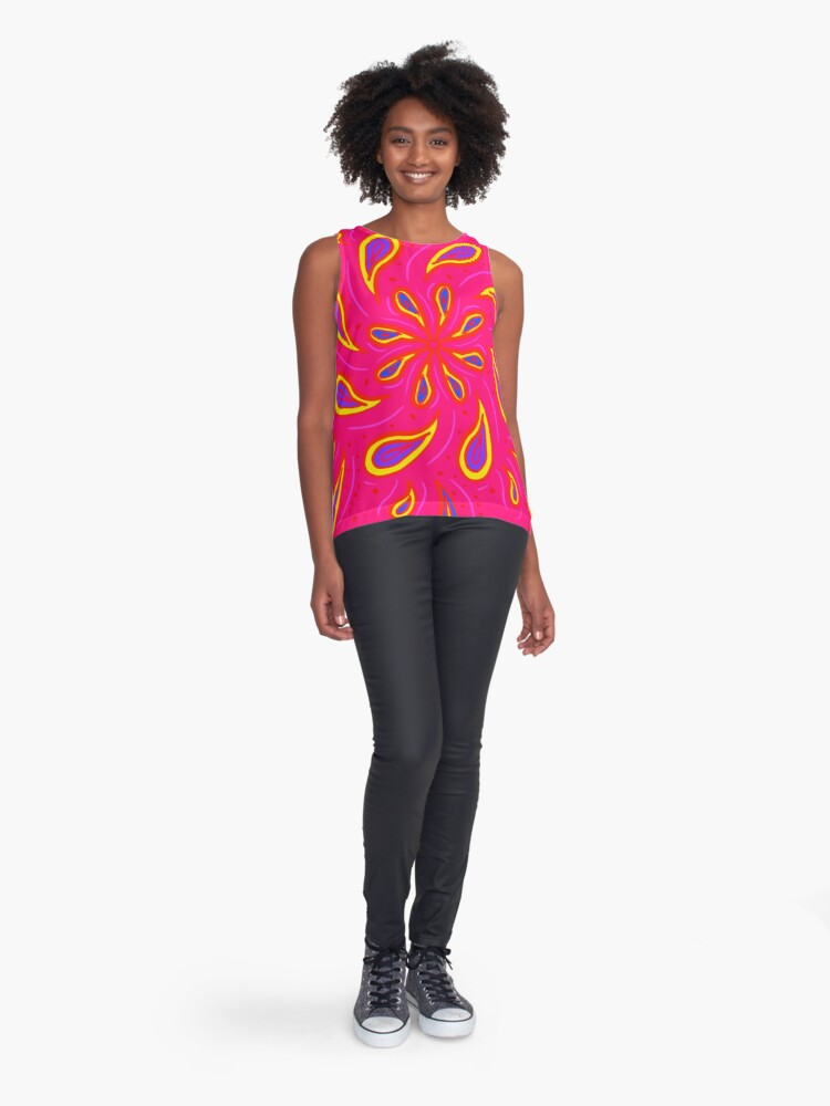 Alternate view of Paisley Pink Sleeveless Top