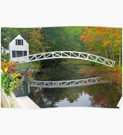 Bridge, Sommesville, Maine Poster