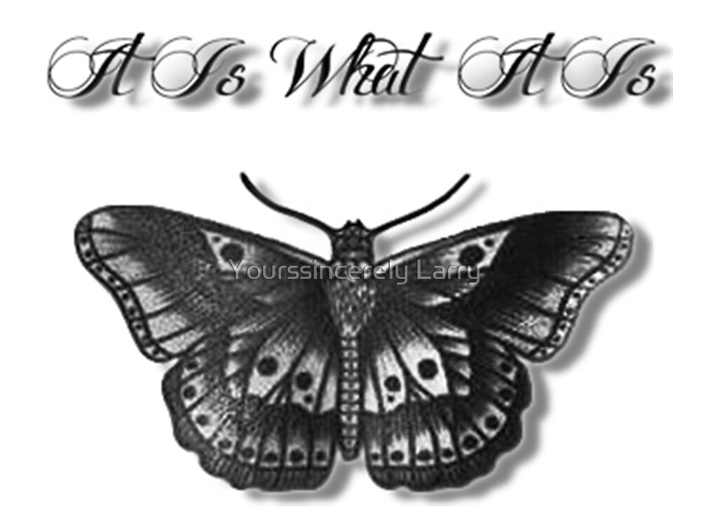 it is what it is and butterfly by yourssincerely larry redbubble