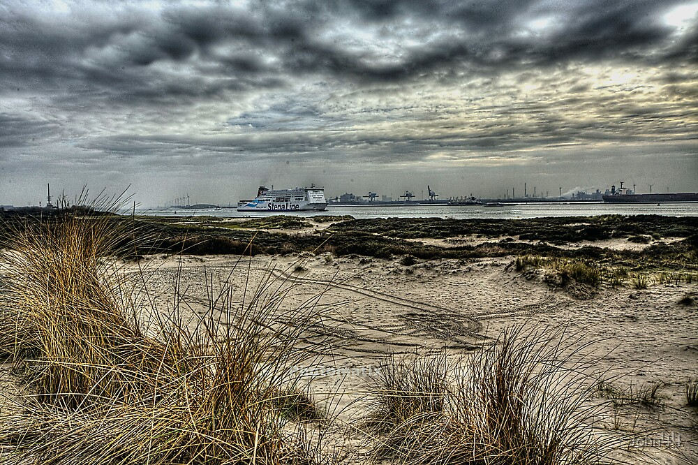 Wide Angle Rotterdam Harbor  look in H D R by John44