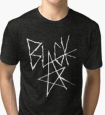 Soul eater - Black Star Signature (White) Tri-blend T-Shirt