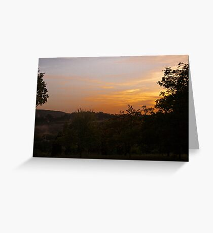 Sunset over the Dordogne Vally Greeting Card