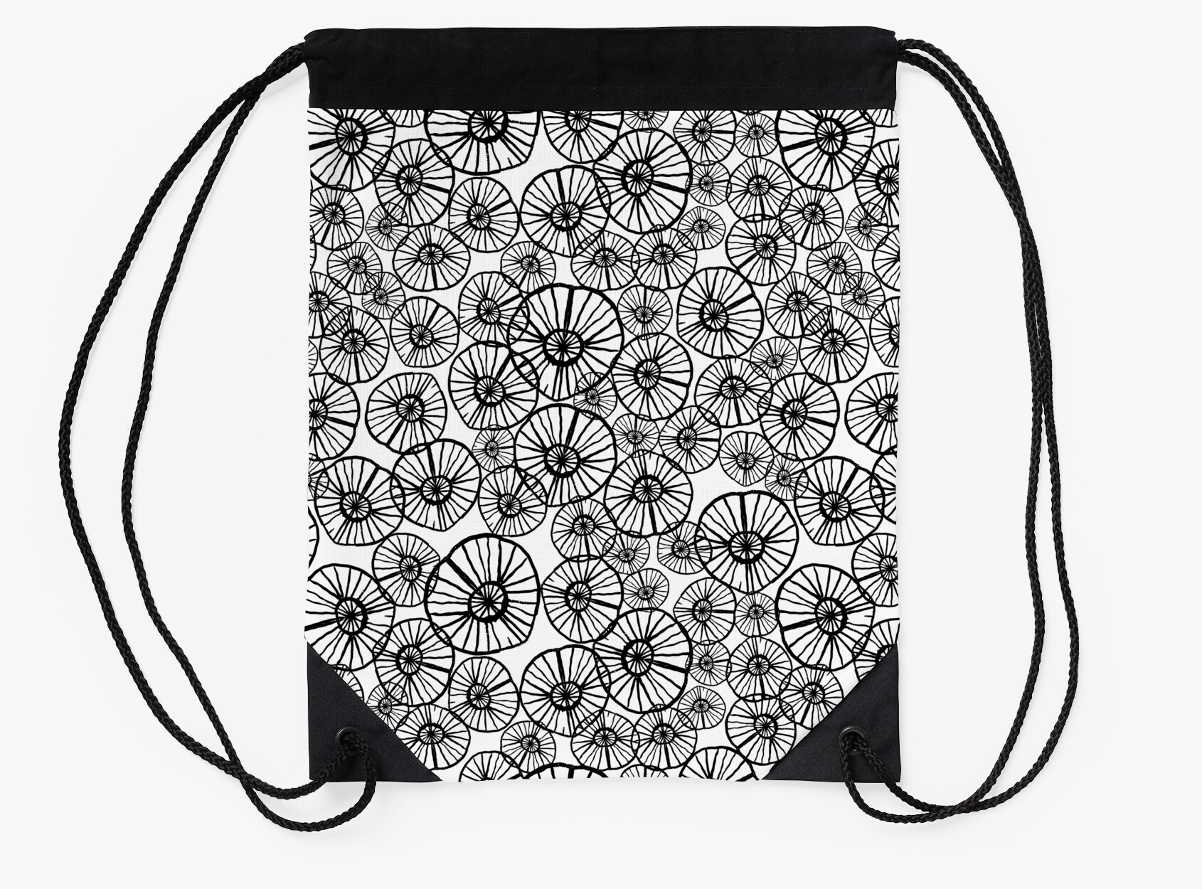 Lexi - squiggle modern black and white hand drawn pattern design ...
