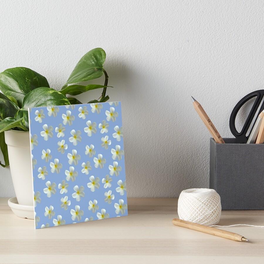 Frangipani - Weiß und Gelb Galeriedruck