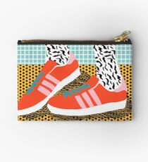 Spiffy - shoes art print memphis design style modern colorful california socal los angeles brooklyn hipster art pattern  Studio Pouch