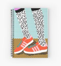 Spiffy - shoes art print memphis design style modern colorful california socal los angeles brooklyn hipster art pattern  Spiral Notebook