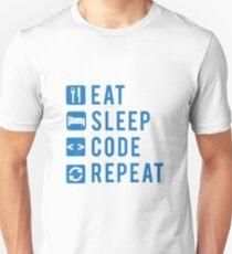 Eat Sleep Code Repeat BLUE T-Shirt