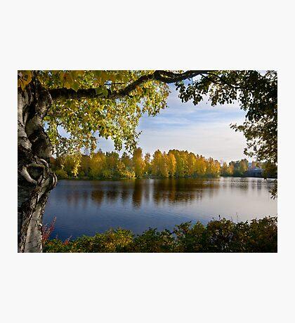 River Oulujoki, autumn Photographic Print