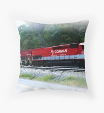 RJ Corman Railroad Company Throw Pillow