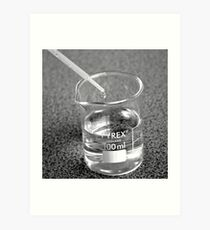 Beaker droplet 2 Art Print