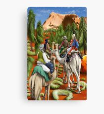 Camel Trek to Uluru by tasmanianartist for Karl May Friends Canvas Print