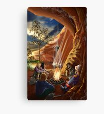 Camp at the Billabong by tasmanianartist for Karl May Friends Canvas Print