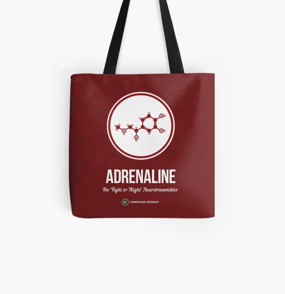 Neurotransmitter Series: Adrenaline All Over Print Tote Bag
