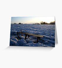 winter sledging Greeting Card
