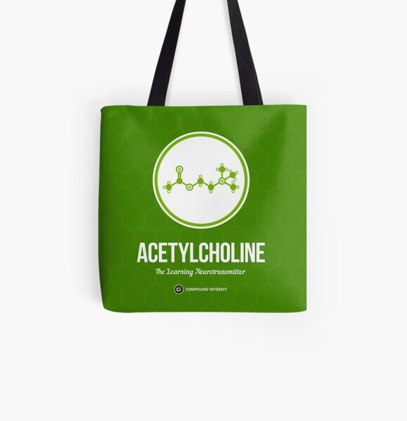 Neurotransmitter Series: Acetylcholine All Over Print Tote Bag