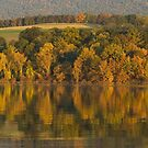 October on Faylor Lake by Michael  Dreese