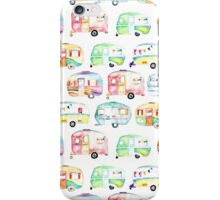Retro Caravans iPhone Case/Skin